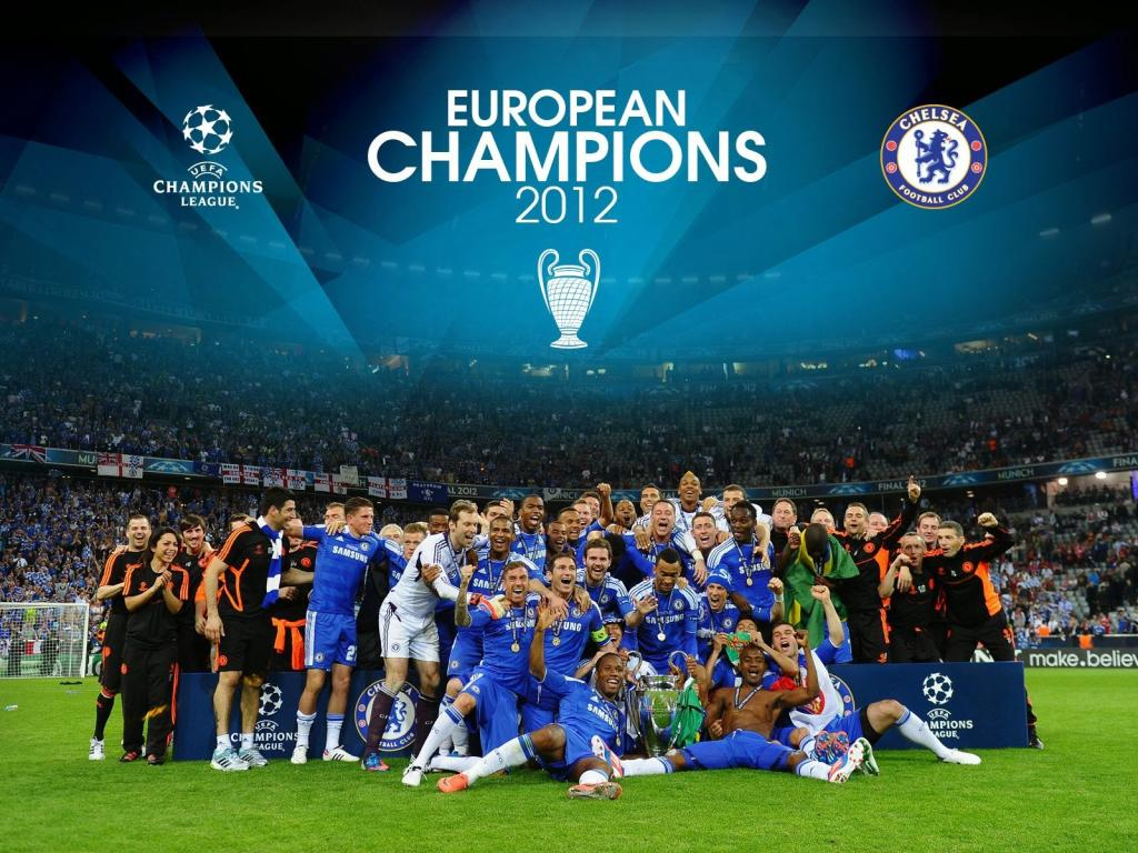 Chelsea FC - Celebrating victory in the 2012 UEFA Champions League. Image Credit: Chelsea FC