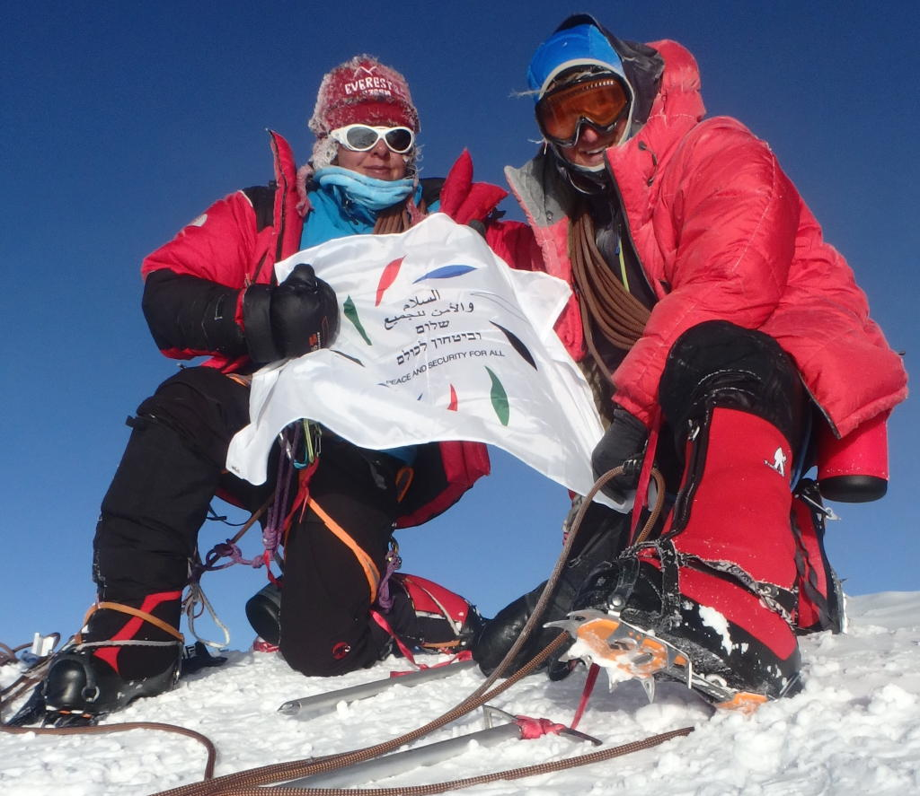 Naira Musallam and Tim Lawton at the summit of  Denali on June 30th, 2015. (Image Credit: Naira and Tim)